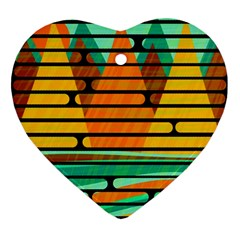 Decorative autumn landscape Ornament (Heart)