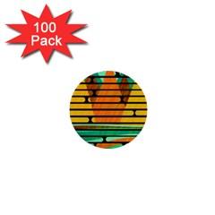 Decorative autumn landscape 1  Mini Buttons (100 pack)