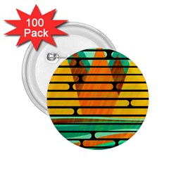 Decorative autumn landscape 2.25  Buttons (100 pack)