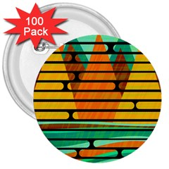Decorative autumn landscape 3  Buttons (100 pack)
