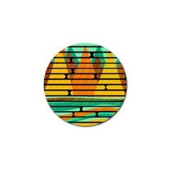 Decorative autumn landscape Golf Ball Marker