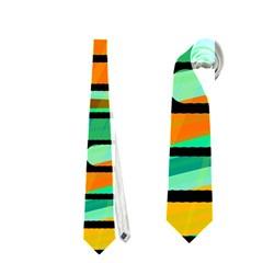 Decorative autumn landscape Neckties (Two Side)