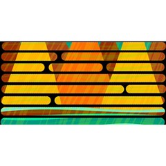 Decorative autumn landscape YOU ARE INVITED 3D Greeting Card (8x4)