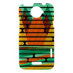 Decorative autumn landscape HTC One X Hardshell Case