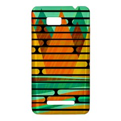 Decorative autumn landscape HTC One SU T528W Hardshell Case