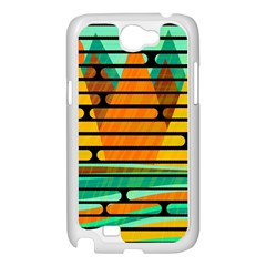 Decorative autumn landscape Samsung Galaxy Note 2 Case (White)