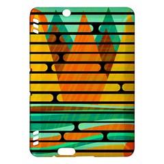 Decorative autumn landscape Kindle Fire HDX Hardshell Case