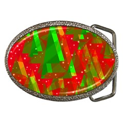 Xmas trees decorative design Belt Buckles