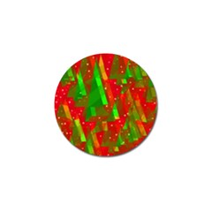 Xmas trees decorative design Golf Ball Marker (4 pack)