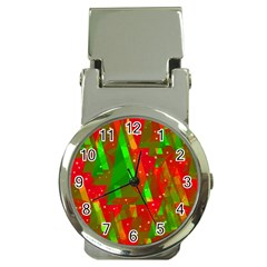 Xmas trees decorative design Money Clip Watches