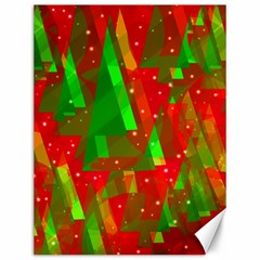 Xmas trees decorative design Canvas 12  x 16