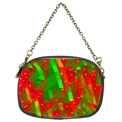 Xmas trees decorative design Chain Purses (Two Sides)
