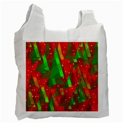 Xmas trees decorative design Recycle Bag (One Side)