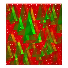 Xmas trees decorative design Shower Curtain 66  x 72  (Large)