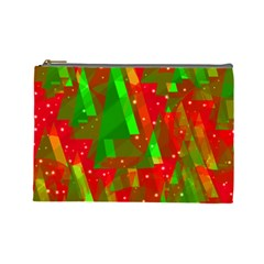 Xmas trees decorative design Cosmetic Bag (Large)