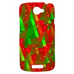 Xmas trees decorative design HTC One S Hardshell Case