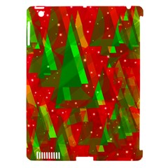 Xmas trees decorative design Apple iPad 3/4 Hardshell Case (Compatible with Smart Cover)
