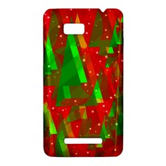 Xmas trees decorative design HTC One SU T528W Hardshell Case