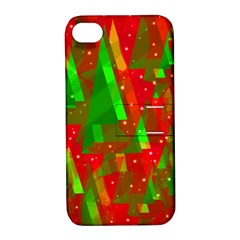 Xmas trees decorative design Apple iPhone 4/4S Hardshell Case with Stand