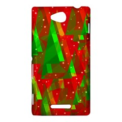 Xmas trees decorative design Sony Xperia C (S39H)
