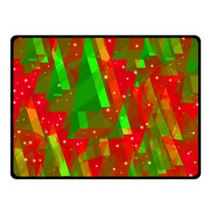 Xmas trees decorative design Double Sided Fleece Blanket (Small)