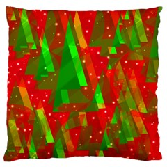 Xmas trees decorative design Standard Flano Cushion Case (One Side)