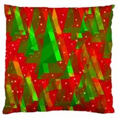 Xmas trees decorative design Standard Flano Cushion Case (Two Sides)