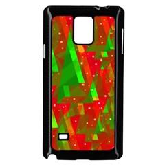 Xmas trees decorative design Samsung Galaxy Note 4 Case (Black)