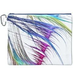 Satin Fractal Canvas Cosmetic Bag (XXXL)
