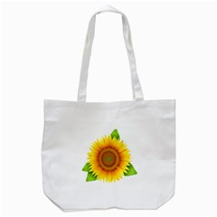 Sunflower Clipart Tote Bag (White)