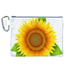 Sunflower Clipart Canvas Cosmetic Bag (XL)