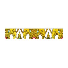 Traditional Thai Style Painting Flano Scarf (Mini)