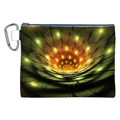 3d Abstract Flower Lotus Fractal Canvas Cosmetic Bag (XXL)