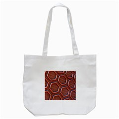 3d Abstract Patterns Hexagons Honeycomb Tote Bag (White)
