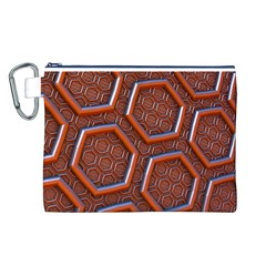 3d Abstract Patterns Hexagons Honeycomb Canvas Cosmetic Bag (L)