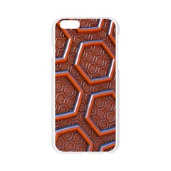 3d Abstract Patterns Hexagons Honeycomb Apple Seamless iPhone 6/6S Case (Transparent)