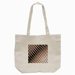 3d Abstract Metal Silver Pattern Tote Bag (Cream)