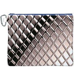 3d Abstract Metal Silver Pattern Canvas Cosmetic Bag (XXXL)