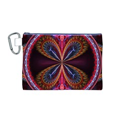 3d Abstract Ring Canvas Cosmetic Bag (M)