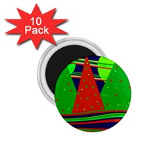 Magical Xmas night 1.75  Magnets (10 pack)
