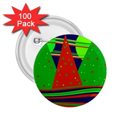 Magical Xmas night 2.25  Buttons (100 pack)