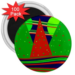 Magical Xmas night 3  Magnets (100 pack)