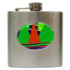 Magical Xmas night Hip Flask (6 oz)