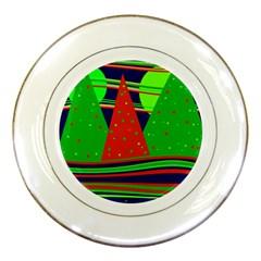 Magical Xmas night Porcelain Plates