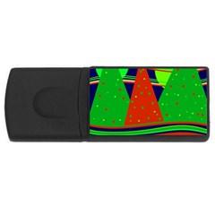 Magical Xmas night USB Flash Drive Rectangular (4 GB)
