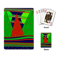 Magical Xmas night Playing Card