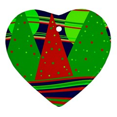 Magical Xmas night Heart Ornament (2 Sides)