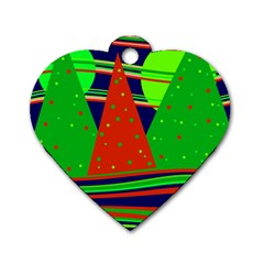 Magical Xmas night Dog Tag Heart (One Side)