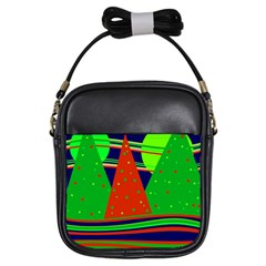 Magical Xmas night Girls Sling Bags
