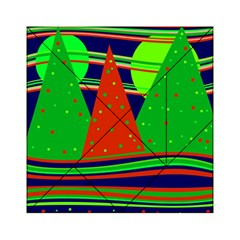 Magical Xmas night Acrylic Tangram Puzzle (6  x 6 )